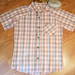 Hurley button up shirt med like new
